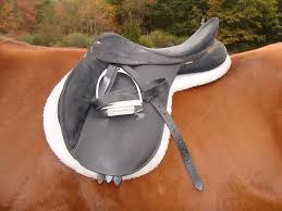Leather saddle for horses
