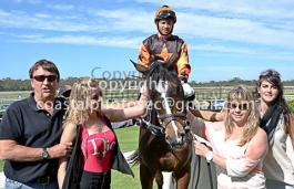 Benedict race horse with Headly Macgrath at Fairview